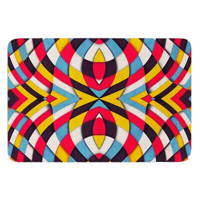 Stained Glass by Danny Ivan Bath Mat Size: 17W x 24L