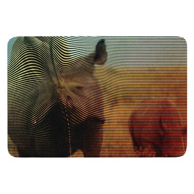 Abstract Rhino by Danny Ivan Bath Mat Size: 24 W x 36 L