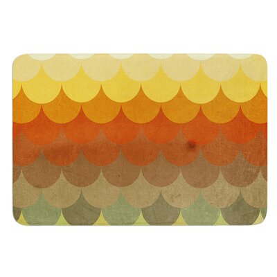 Half Circle Waves Color by Danny Ivan Bath Mat Size: 17W x 24L