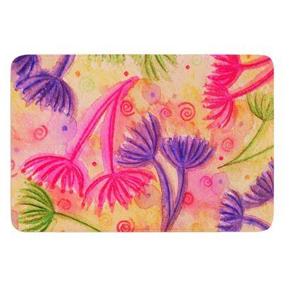 Cow Parsley by Ebi Emporium Bath Mat Size: 24 W x 36 L