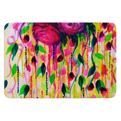 Roses Are Red by Ebi Emporium Bath Mat Size: 24 W x 36 L