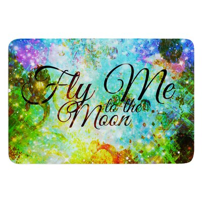 Fly Me To The Moon by Ebi Emporium Bath Mat Size: 24 W x 36 L