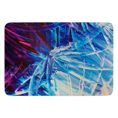 Night Flowers by Ebi Emporium Bath Mat Size: 17 W x 24 L