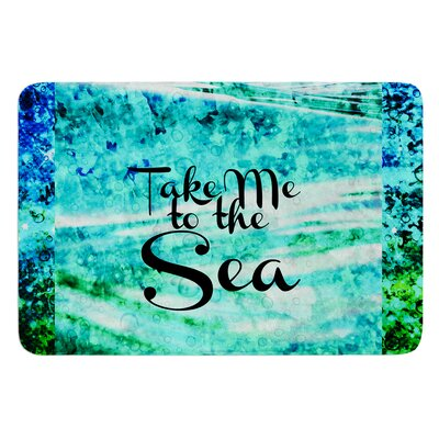 Take Me to the Sea by Ebi Emporium Bath Mat Size: 24 W x 36 L