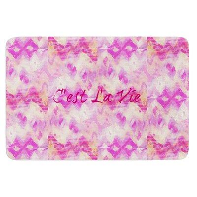 Cest La Vie by Ebi Emporium Bath Mat Size: 17 W x 24 L