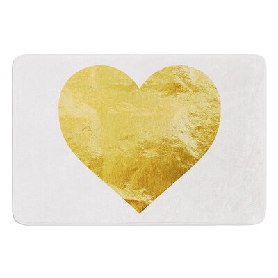 Heart of Gold Bath Mat