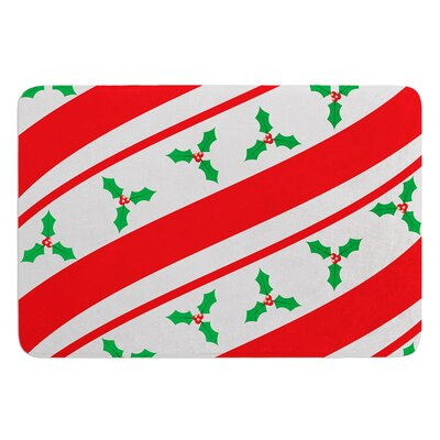 Holiday Holly Bath Mat
