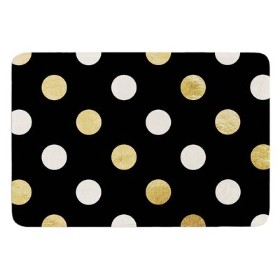 Golden Dots Bath Mat