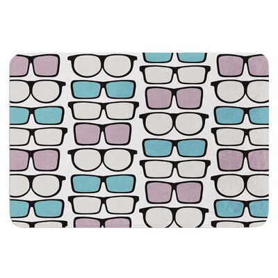 Spectacles Geek Chic by Michelle Drew Bath Mat