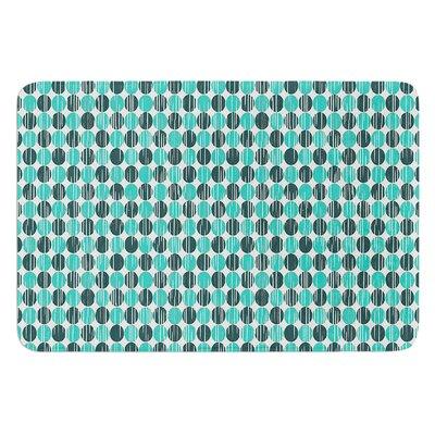 Distressed Circles by Michelle Drew Bath Mat