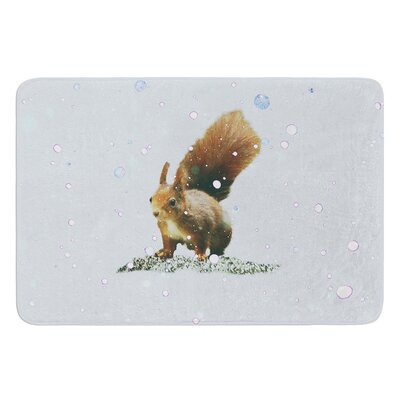 Squirrel by Monika Strigel Bath Mat