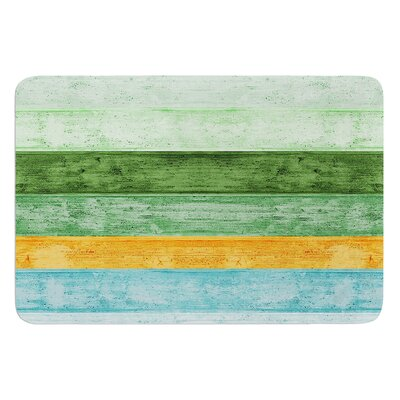 Beach Wood Blue by Monika Strigel Bath Mat