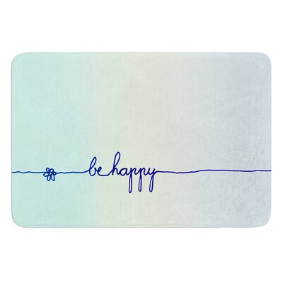 Be Happy by Monika Strigel Bath Mat