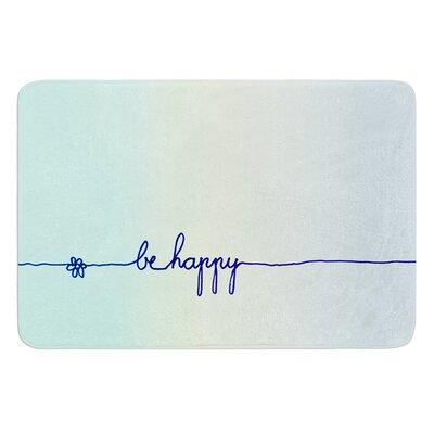 Be Happy by Monika Strigel Bath Mat