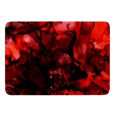 Dark Red by Claire Day Bath Mat