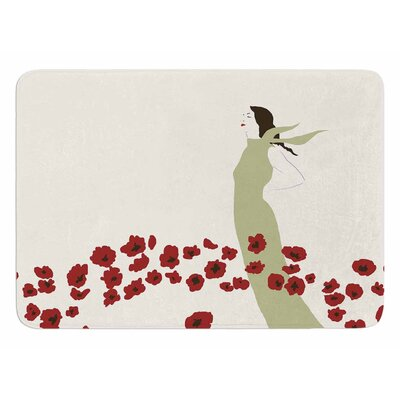 Poppy Field by Mayacoa Studio Bath Mat