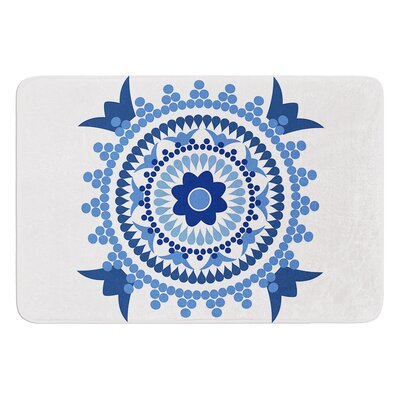 Bohemian Blues by Carolyn Greifeld Bath Mat Size: 24 W x 36 L