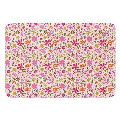 Flowers Garden by Carolyn Greifeld Bath Mat Size: 17W x 24 L