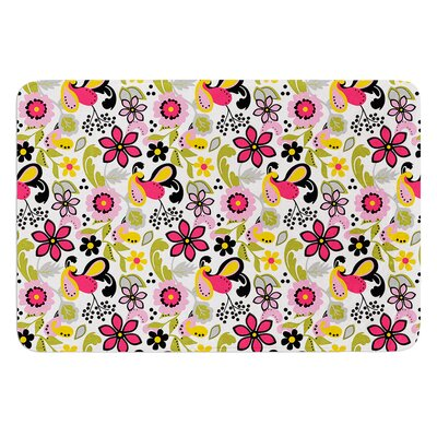 Pretty Florals by Carolyn Greifeld Bath Mat Size: 17