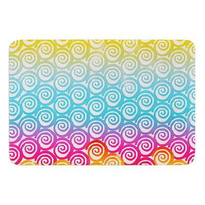 Ethnic Spirals by Frederic Levy-Hadida Bath Mat Size: 17