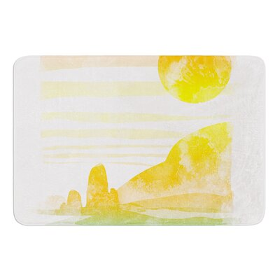 Landscape Painted With Tea by Frederic Levy-Hadida Bath Mat Size: 17