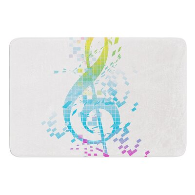 Rainbow Key by Frederic Levy-Hadida Bath Mat Size: 17W x 24L