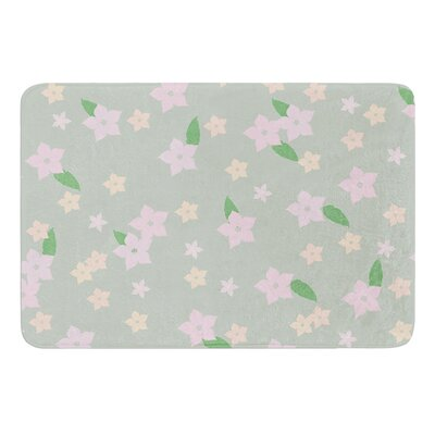 Spring Floral Bath Mat Size: 17 W x 24 L