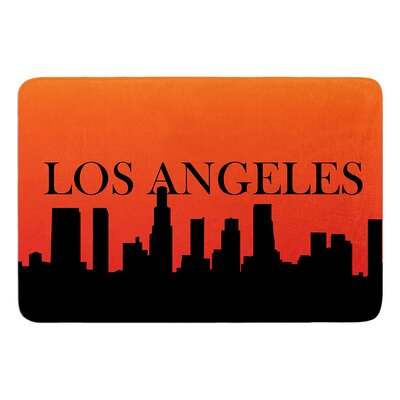 Los Angeles Bath Mat Size: 24 W x 36 L