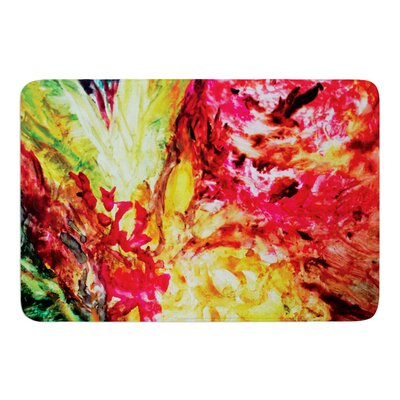 Passion Flowers I by Mary Bateman Bath Mat