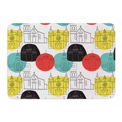 Cartagena Churches by MaJoBV Bath Mat