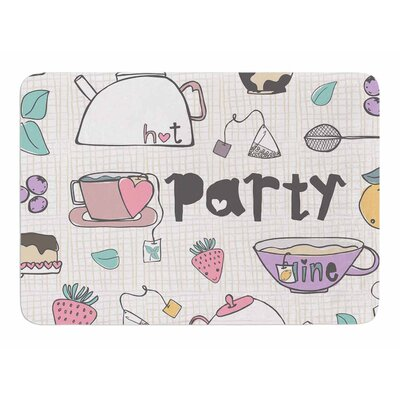 Tea Party by MaJoBV Bath Mat
