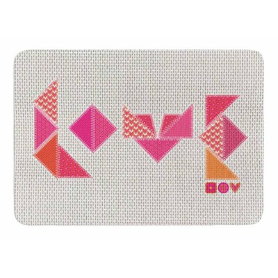 Stitched Love by MaJoBV Bath Mat