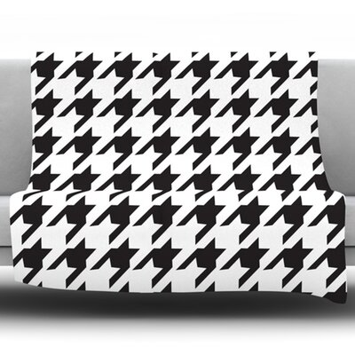 Spacey Houndstooth by Empire Ruhl Fleece Throw Blanket Size: 80 H x 60 W