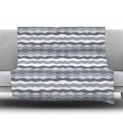 51 Shades of Gray by Empire Ruhl Fleece Throw Blanket Size: 40 L x 30 W