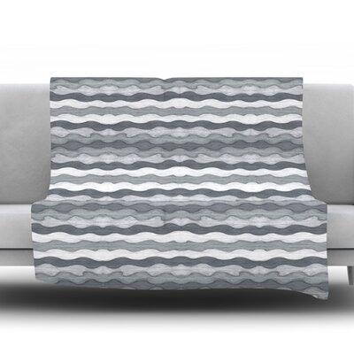 51 Shades of Gray by Empire Ruhl Fleece Throw Blanket Size: 60 L x 50 W