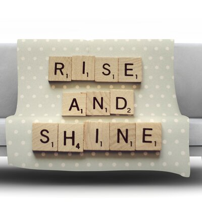 Rise and Shine by Cristina Mitchell Fleece Throw Blanket Size: 40 L x 30 W