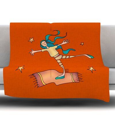 Being Free by Carina Povarchik Fleece Throw Blanket Size: 40 L x 30 W