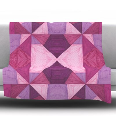 Angles by Empire Ruhl Fleece Throw Blanket Size: 40 L x 30 W