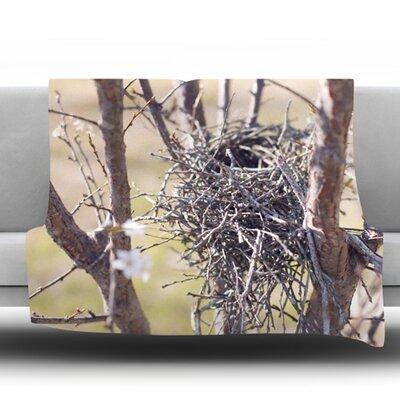 Nest by Catherine McDonald Fleece Throw Blanket Size: 80 H x 60 W