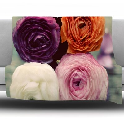 Four Kinds of Beauty by Cristina Mitchell Fleece Throw Blanket Size: 60 L x 50 W