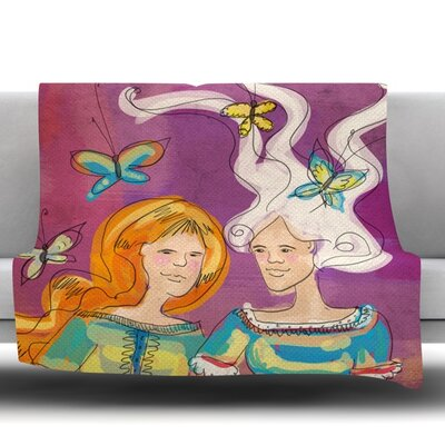 Amigas by Carina Povarchik Fleece Throw Blanket Size: 40 L x 30 W