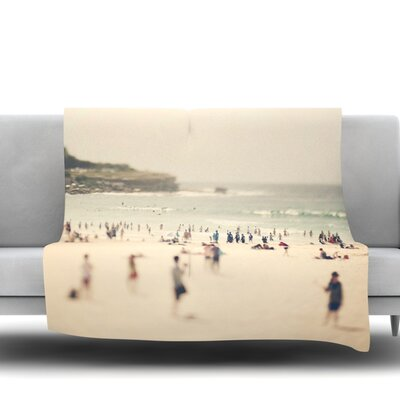 Bondi Beach by Catherine McDonald Fleece Throw Blanket Size: 60 L x 50 W