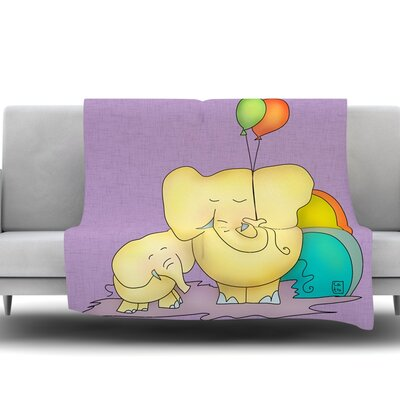 Party Time by Carina Povarchik Fleece Throw Blanket Size: 80 H x 60 W