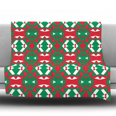 Christmas Geo by Empire Ruhl Fleece Throw Blanket Size: 40 L x 30 W