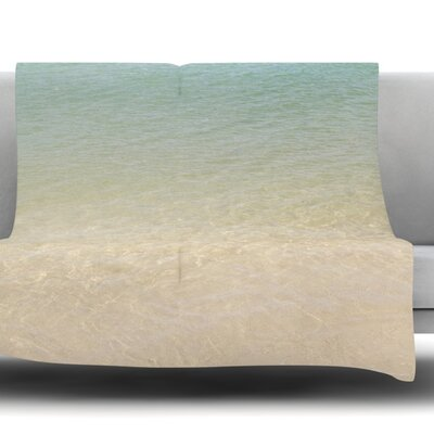 Ombre Sea by Catherine McDonald Fleece Throw Blanket Size: 80 L x 60 W