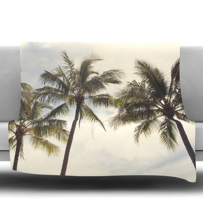 Boho Palms by Catherine McDonald Fleece Throw Blanket Size: 90 H x 90 W