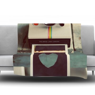Polaroid Love by Cristina Mitchell Fleece Throw Blanket Size: 40 L x 30 W