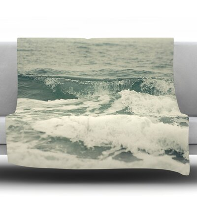 Crashing Waves by Cristina Mitchell Fleece Throw Blanket Size: 90 H x 90 W