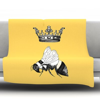 Queen Bee by Catherine Holcombe Fleece Throw Blanket Size: 60 L x 50 W