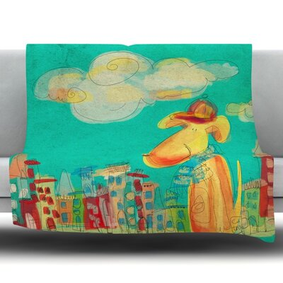 Perrito by Carina Povarchik Fleece Throw Blanket Size: 60 L x 50 W